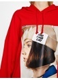 Koton Kapüşonlu Sweatshirt Kırmızı
